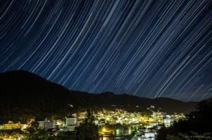 Gero, Japan. Startrails.