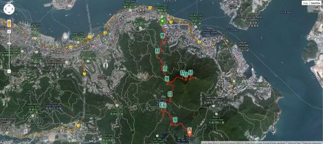 The route as tracked by Runkeeper.