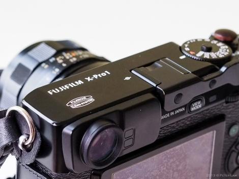 Hybrid optical/electronic viewfinder.