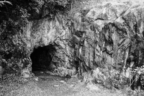 Entrance to the Silvermine Cave, now sealed.