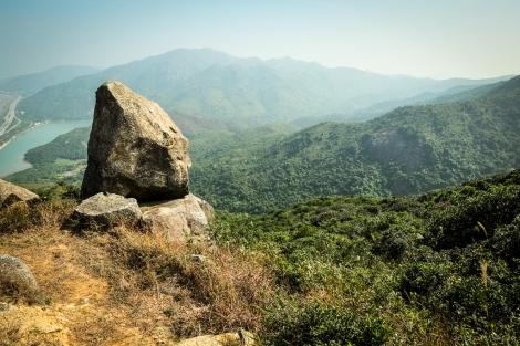 Big boulder overlooking Tai Ho Wan.