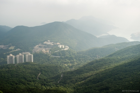 Looking south from Mount Parker towards Tai Tam bay.