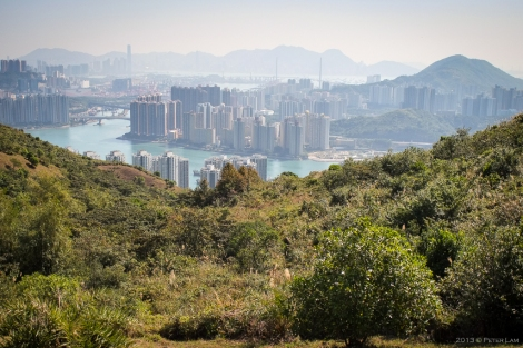 That's Tsing Yi in the distance