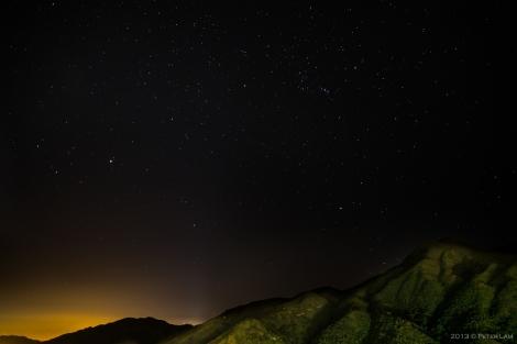 Stars over Lantau Island