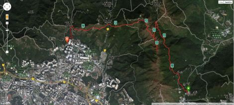 The route tracked by Runkeeper.