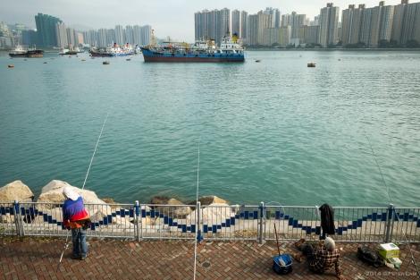 Looking south towards Tsing Yi Island.