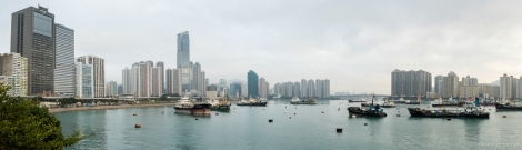Great view of Tsuen Wan Harbour and the Rambler Channel.