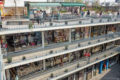 The Ssamzie-gil shopping complex.