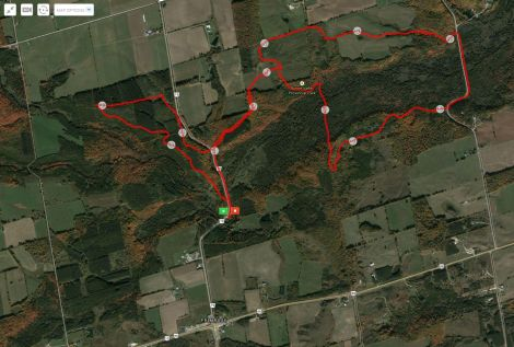 The hike comprised of two loops.