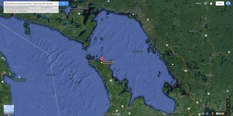 Bruce Peninsula Map Image