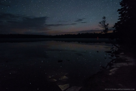 Cyprus lake stars reflection