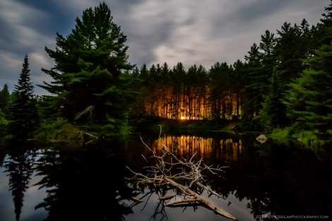 Pog Lake, near the campground. long exposure taken near full darkness.