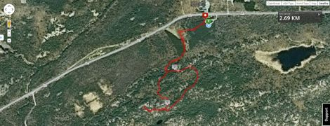 The Granite Ridge trail route.