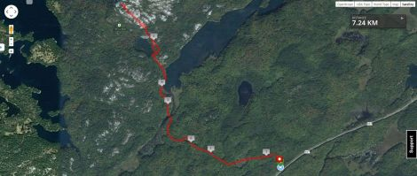 The Crack trail route.